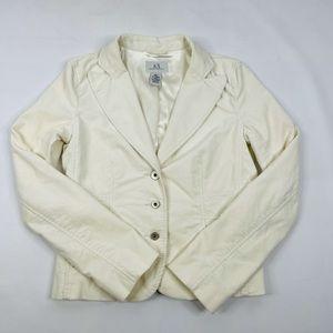 Armani Exchange Velour Blazer Jacket